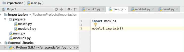 importar paquetes en Python